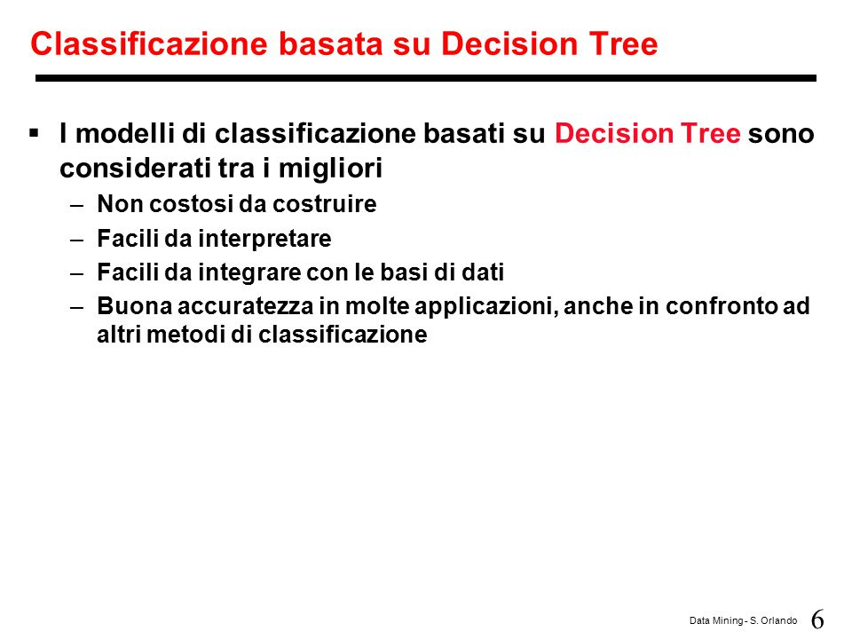 Classificazione basata su Decision Tree