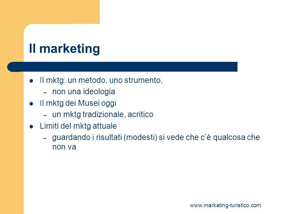 Il marketing Il mktg: un metodo, uno strumento, non una ideologia