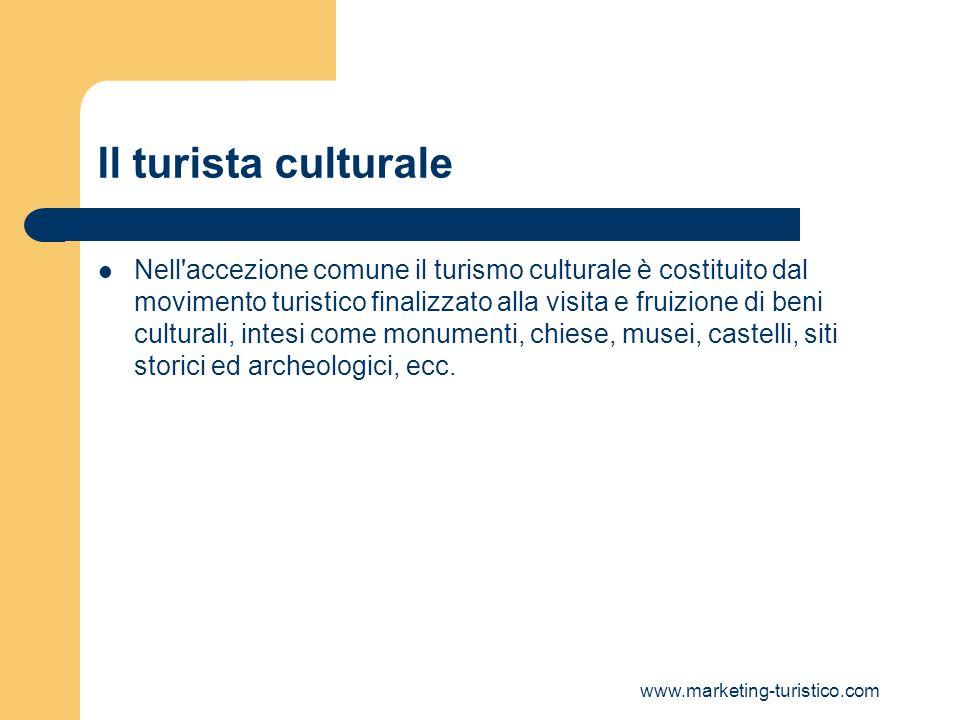Il turista culturale