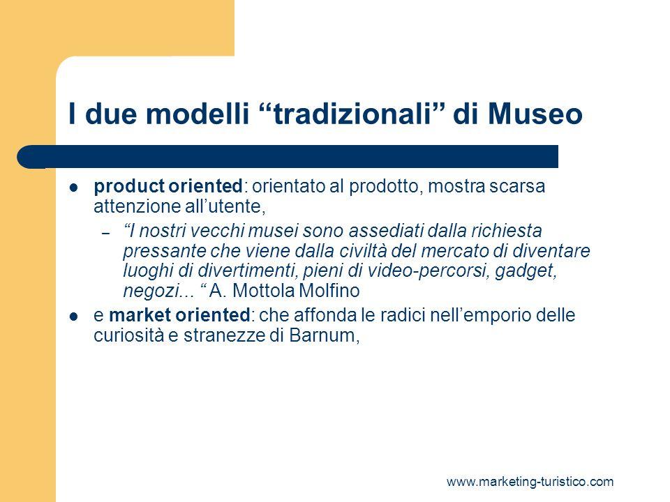I due modelli tradizionali di Museo