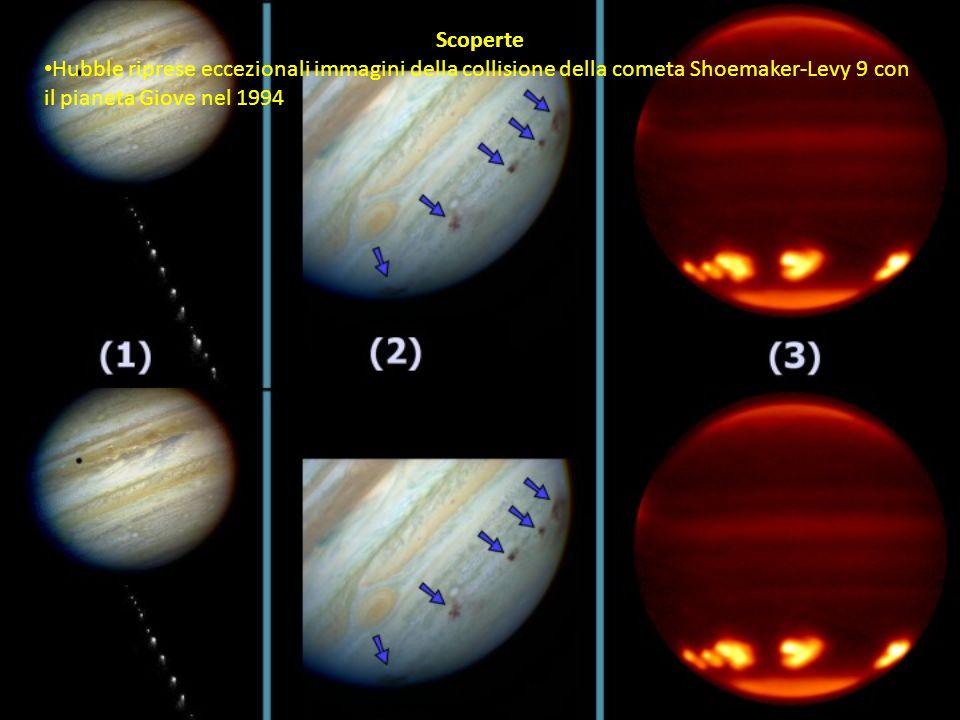 Scoperte Hubble riprese eccezionali immagini della collisione della cometa Shoemaker-Levy 9 con il pianeta Giove nel 1994.
