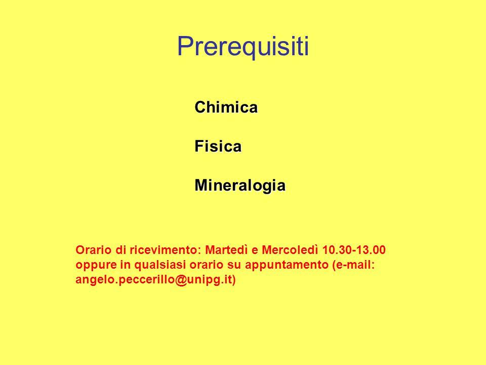 Prerequisiti Chimica Fisica Mineralogia