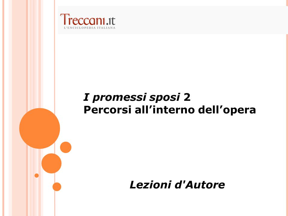 I promessi sposi 2 percorsi all interno dell opera ppt for Interno d autore