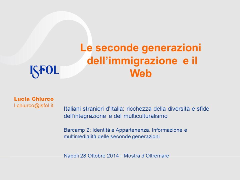 Le seconde generazioni dell'immigrazione e il