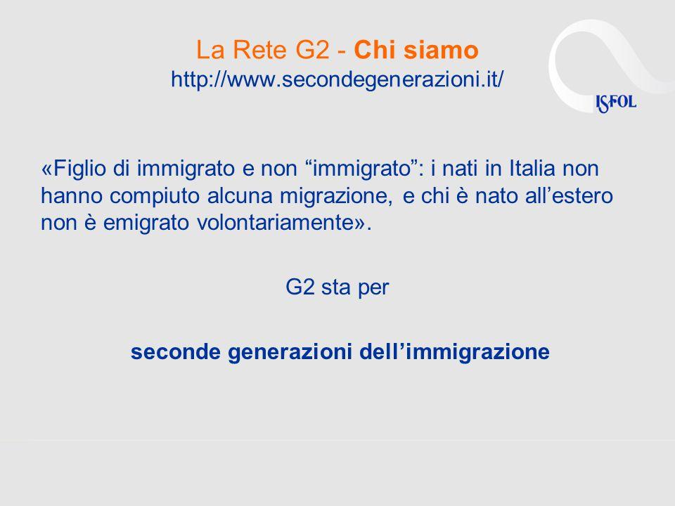 La Rete G2 - Chi siamo http://www.secondegenerazioni.it/