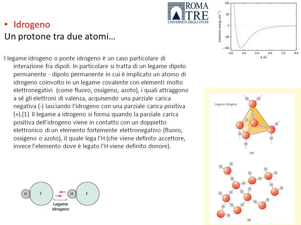 Un protone tra due atomi…