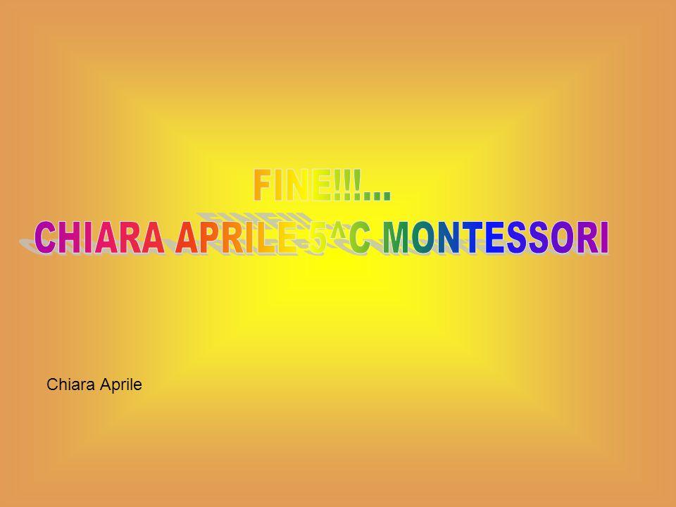 CHIARA APRILE 5^C MONTESSORI