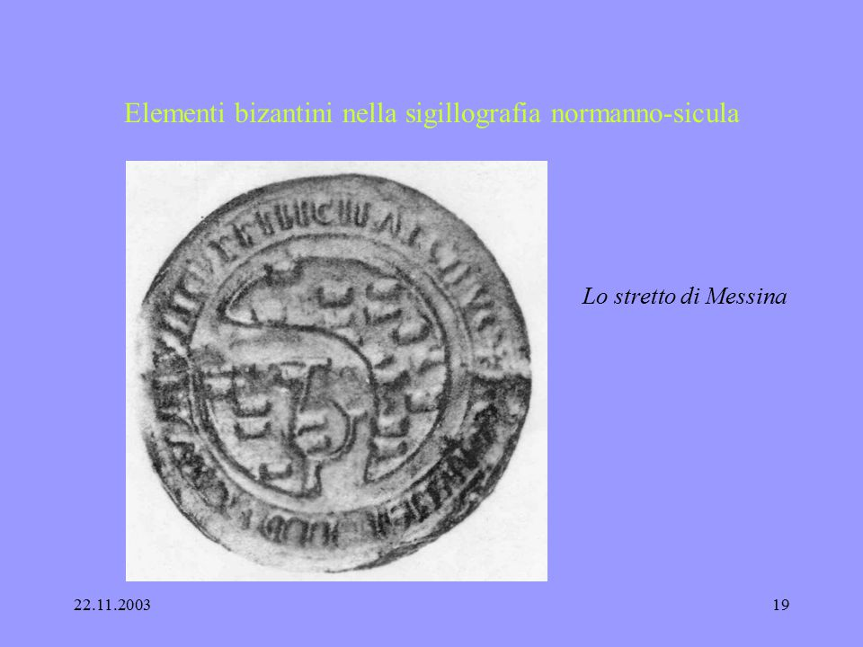Elementi bizantini nella sigillografia normanno-sicula