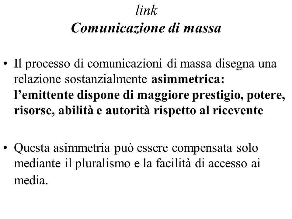 link Comunicazione di massa