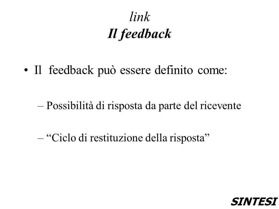link Il feedback Il feedback può essere definito come: