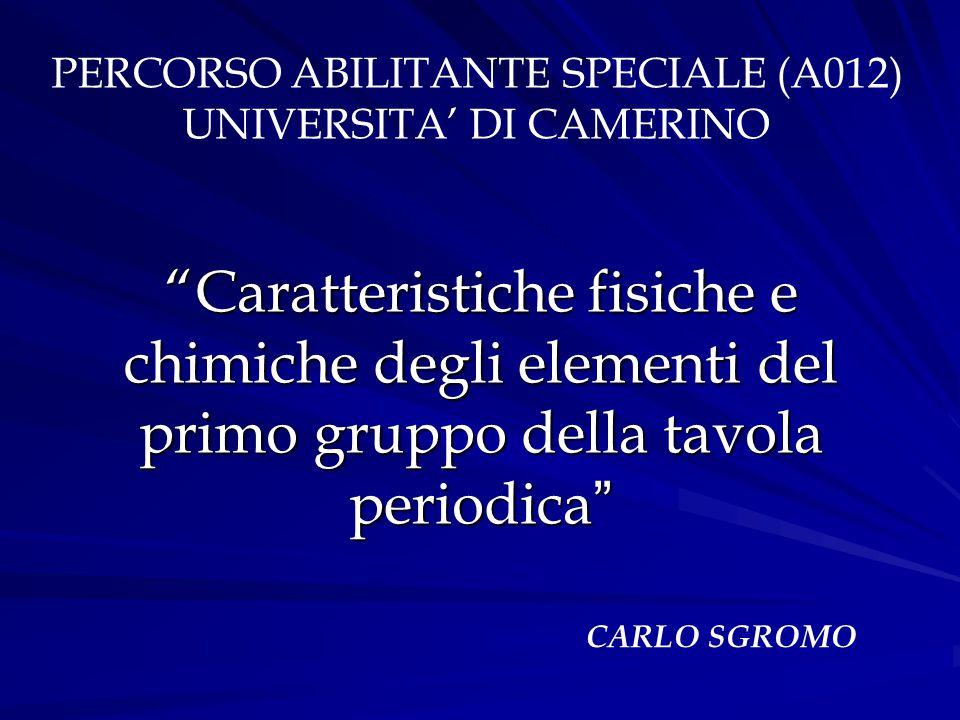 PERCORSO ABILITANTE SPECIALE (A012)