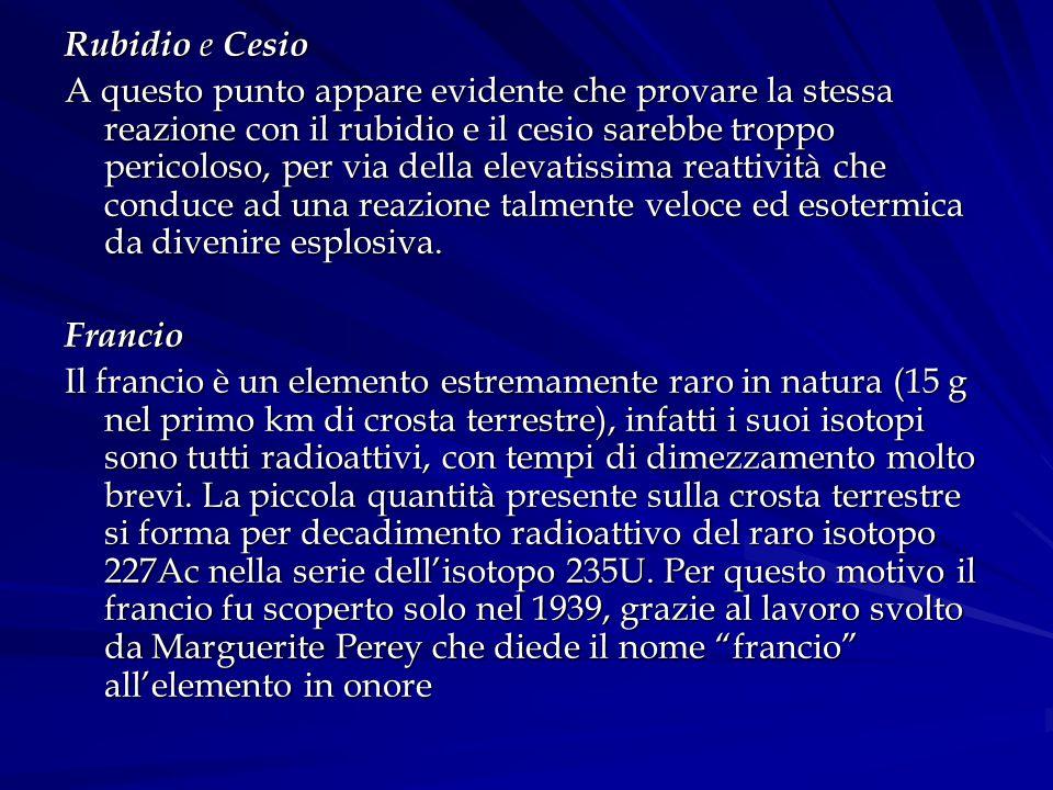 Rubidio e Cesio