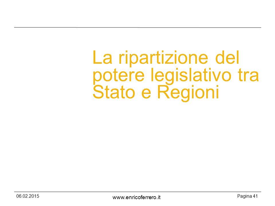 La ripartizione del potere legislativo tra Stato e Regioni