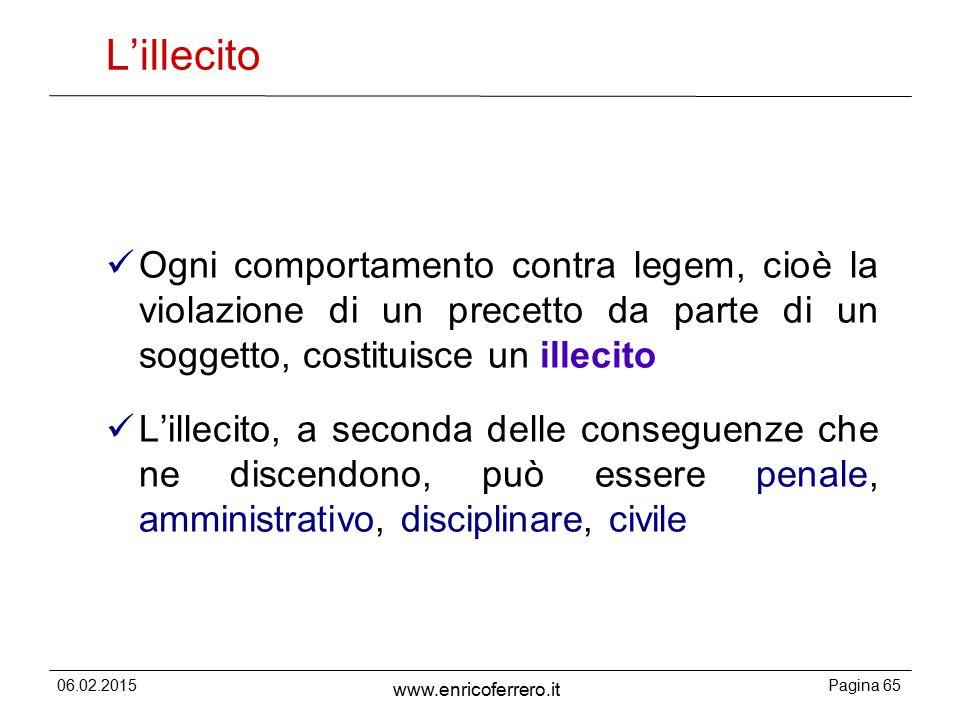 L'illecito Ogni comportamento contra legem, cioè la violazione di un precetto da parte di un soggetto, costituisce un illecito.