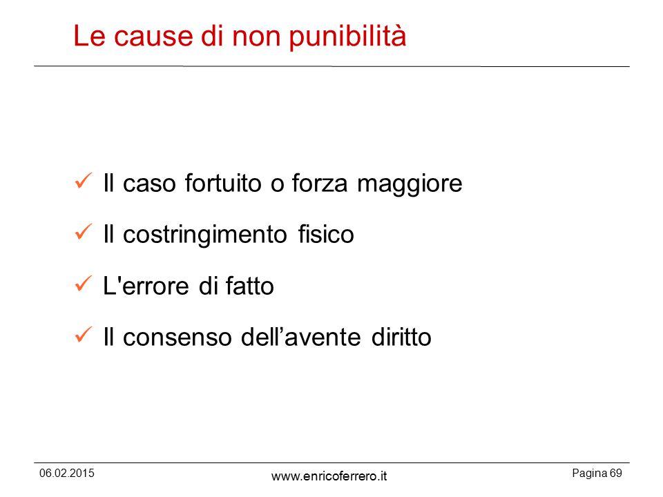 Le cause di non punibilità