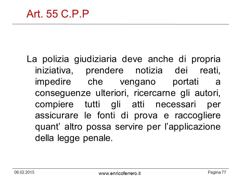 Art. 55 C.P.P