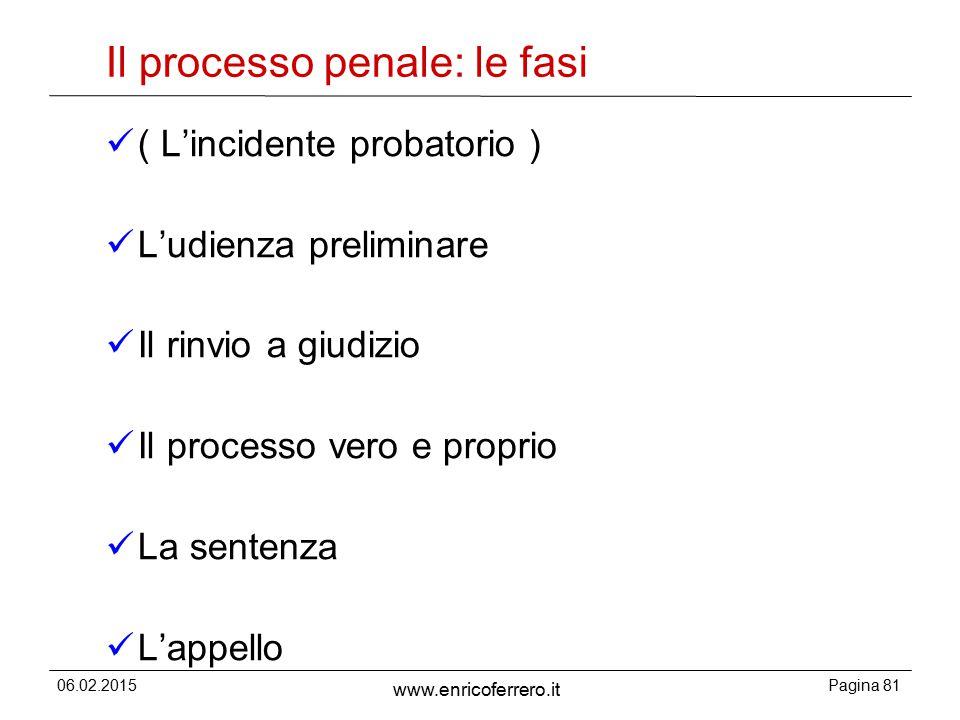 Il processo penale: le fasi