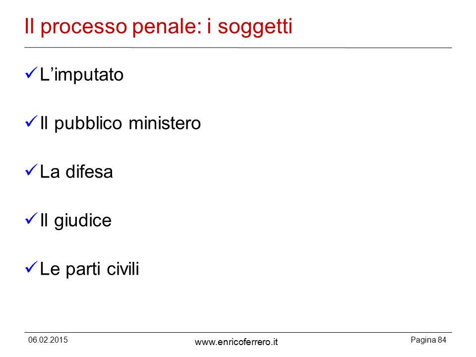 Il processo penale: i soggetti