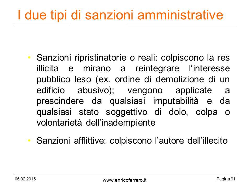 I due tipi di sanzioni amministrative