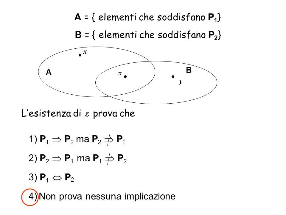 A = { elementi che soddisfano P1}