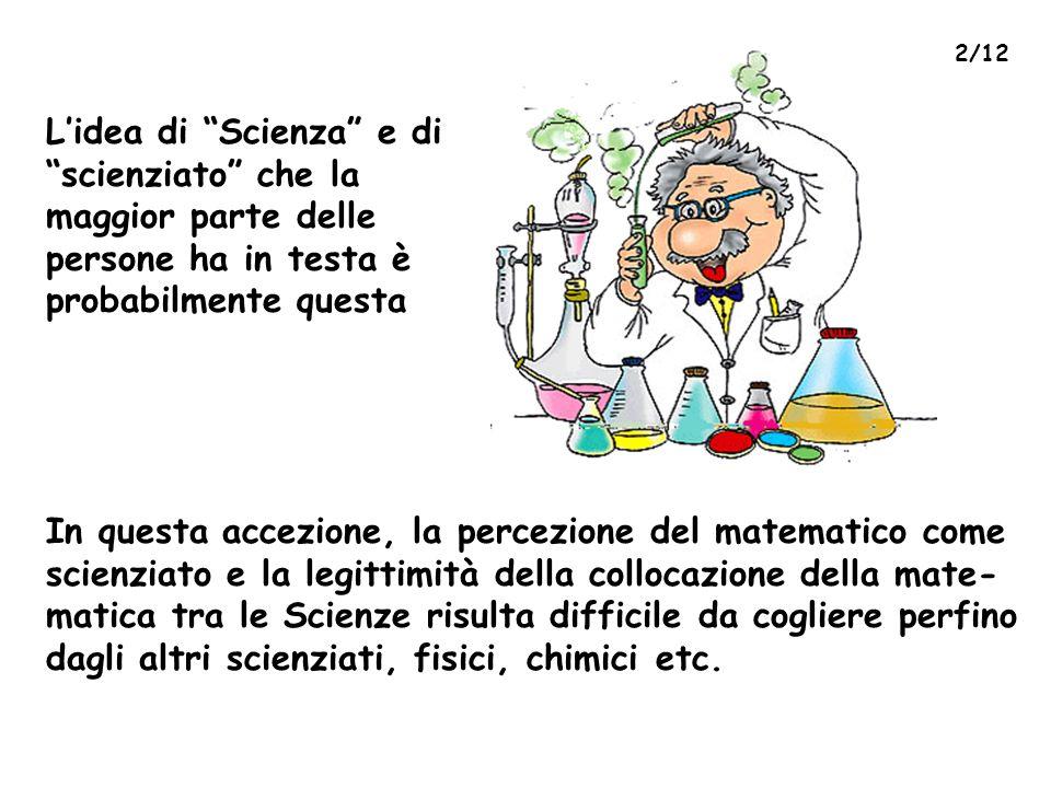 L'idea di Scienza e di scienziato che la maggior parte delle persone ha in testa è probabilmente questa