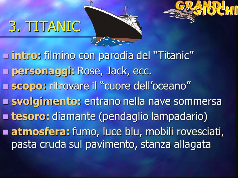 3. TITANIC intro: filmino con parodia del Titanic