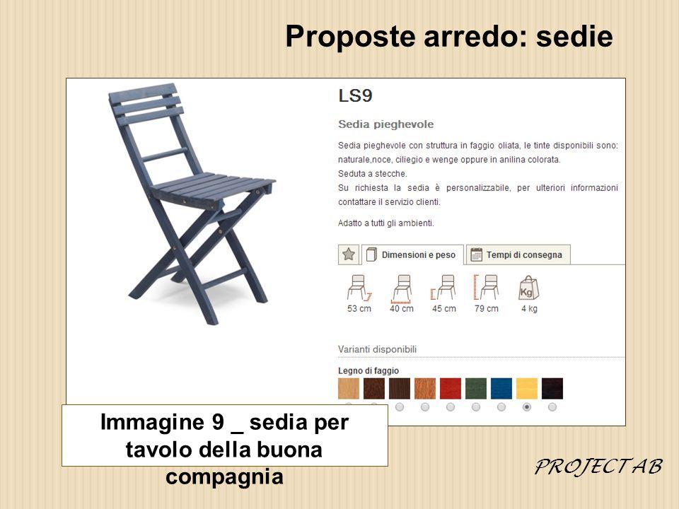 Proposte arredo: sedie
