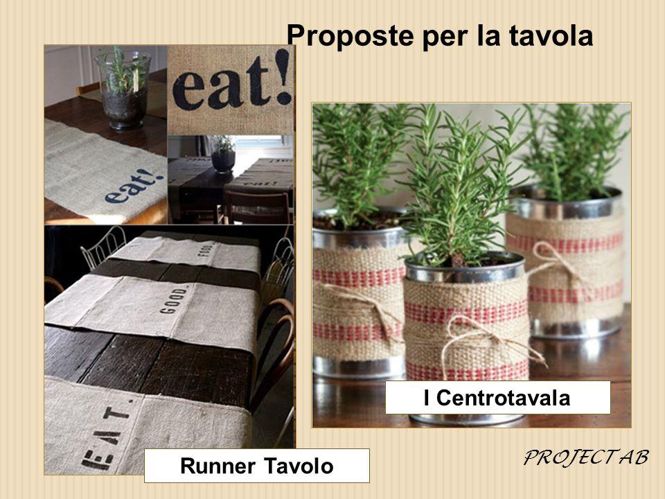 Proposte per la tavola I Centrotavala PROJECT AB Runner Tavolo