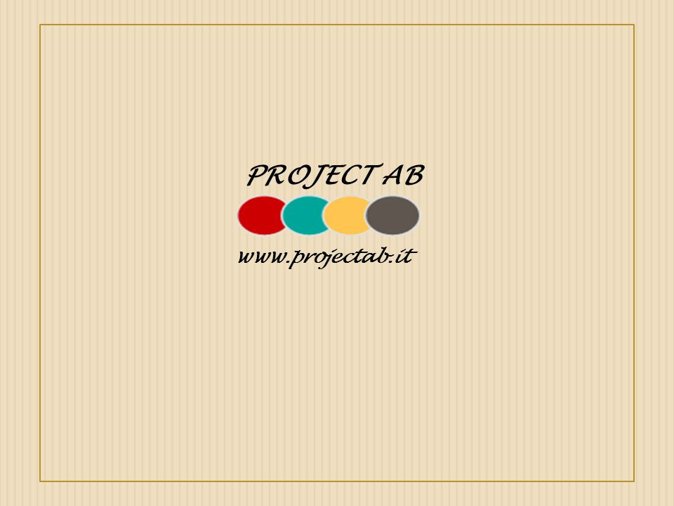 PROJECT AB www.projectab.it