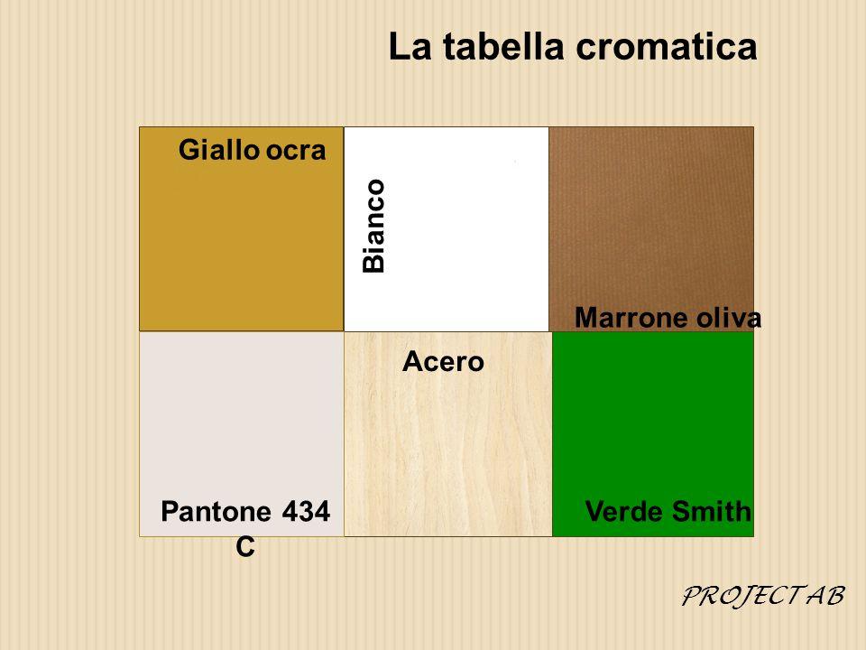 La tabella cromatica Giallo ocra Bianco Marrone oliva Acero