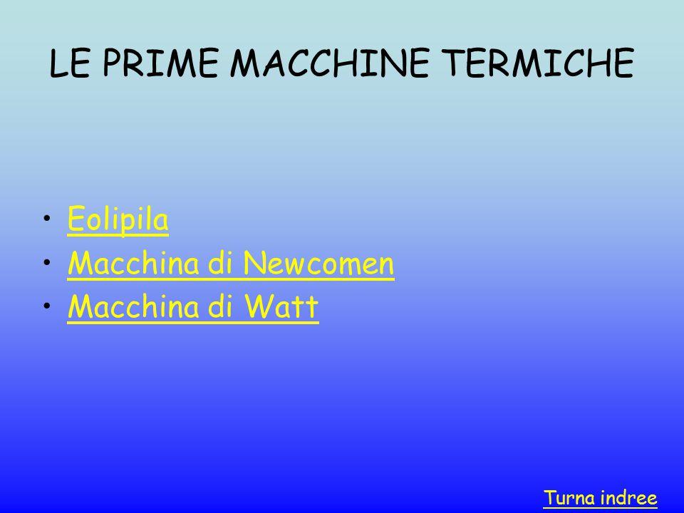 LE PRIME MACCHINE TERMICHE