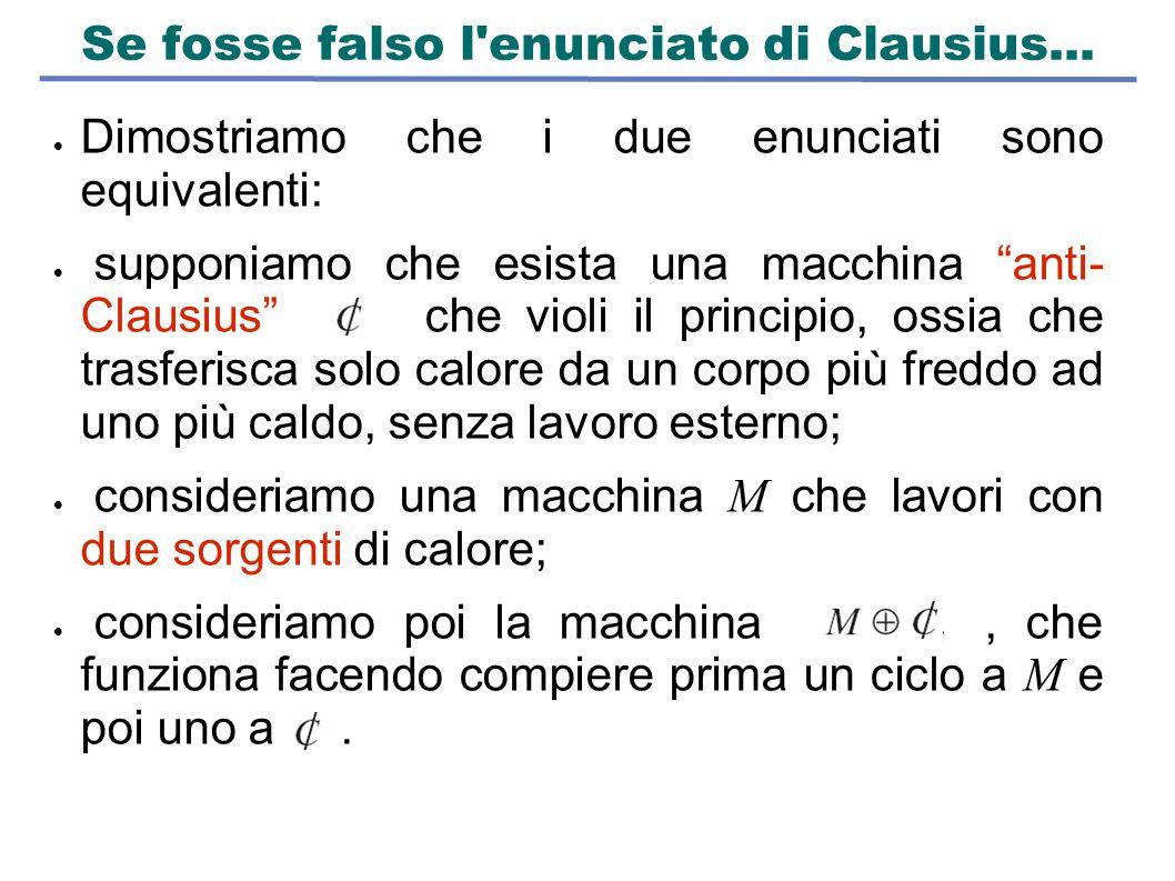 Se fosse falso l enunciato di Clausius...