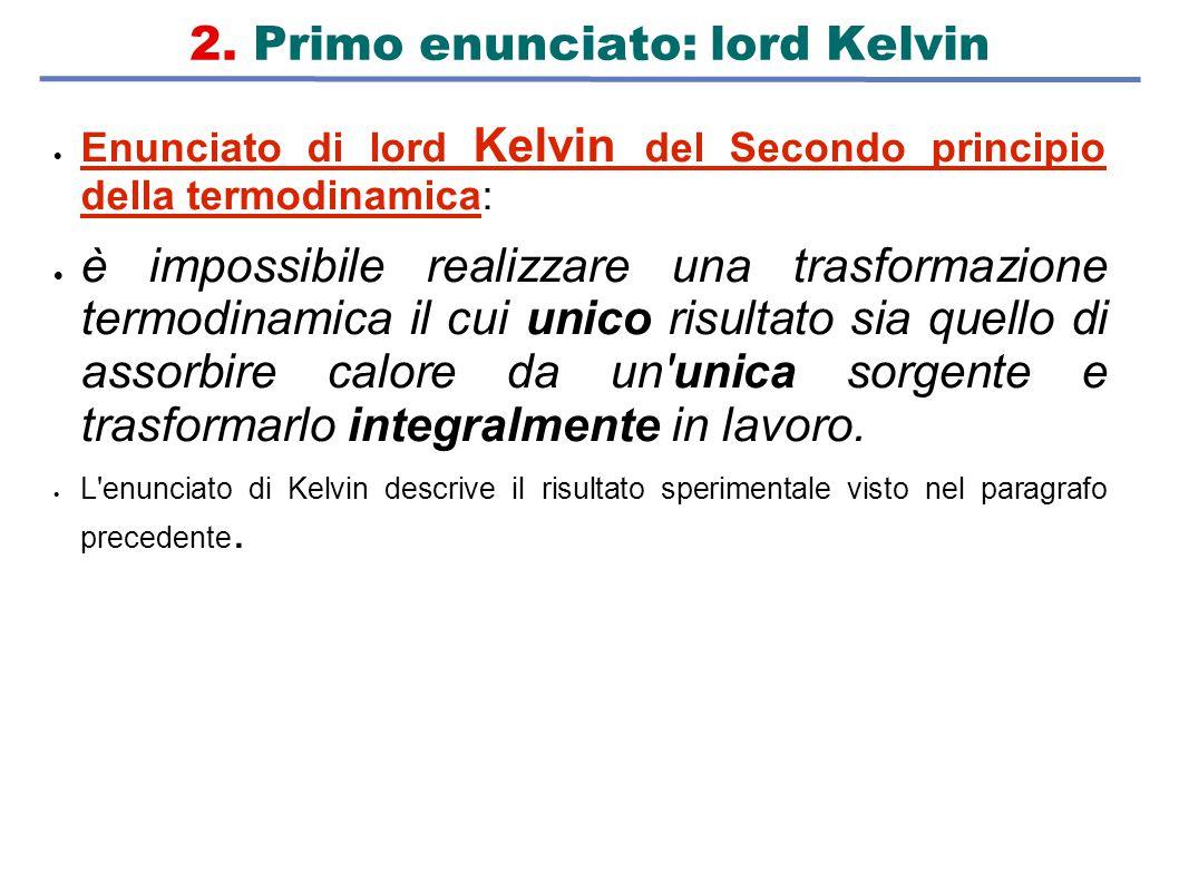 2. Primo enunciato: lord Kelvin