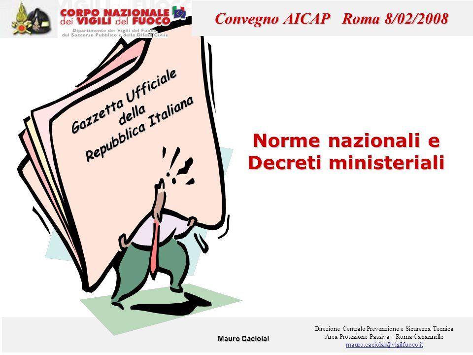 Norme nazionali e Decreti ministeriali