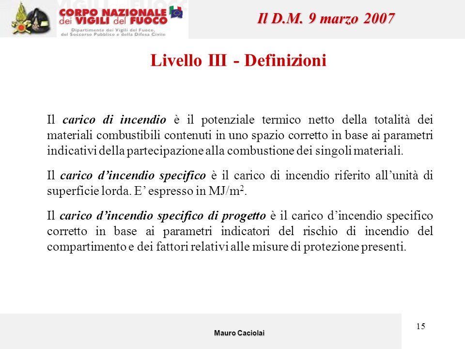 Livello III - Definizioni