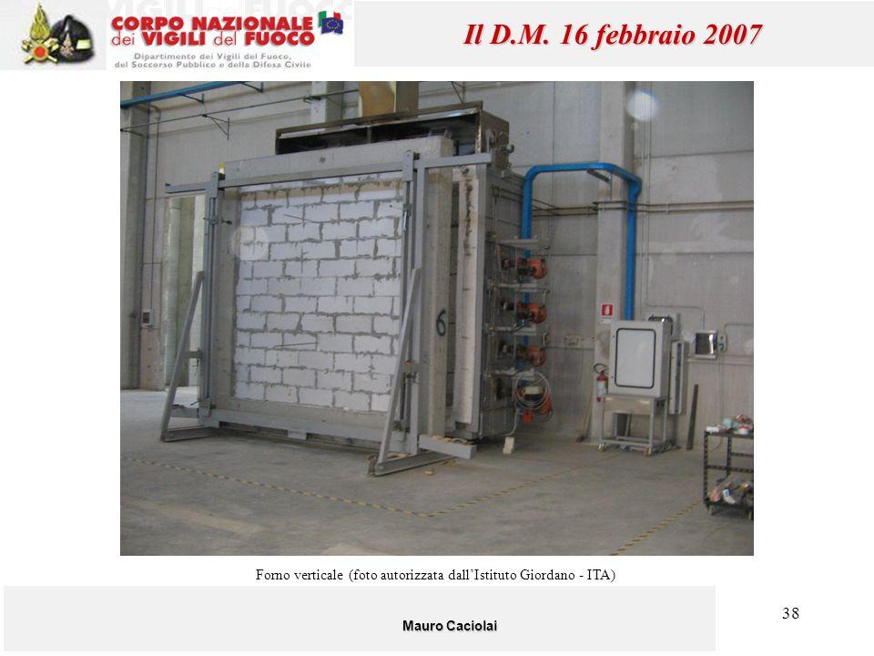 Forno verticale (foto autorizzata dall'Istituto Giordano - ITA)