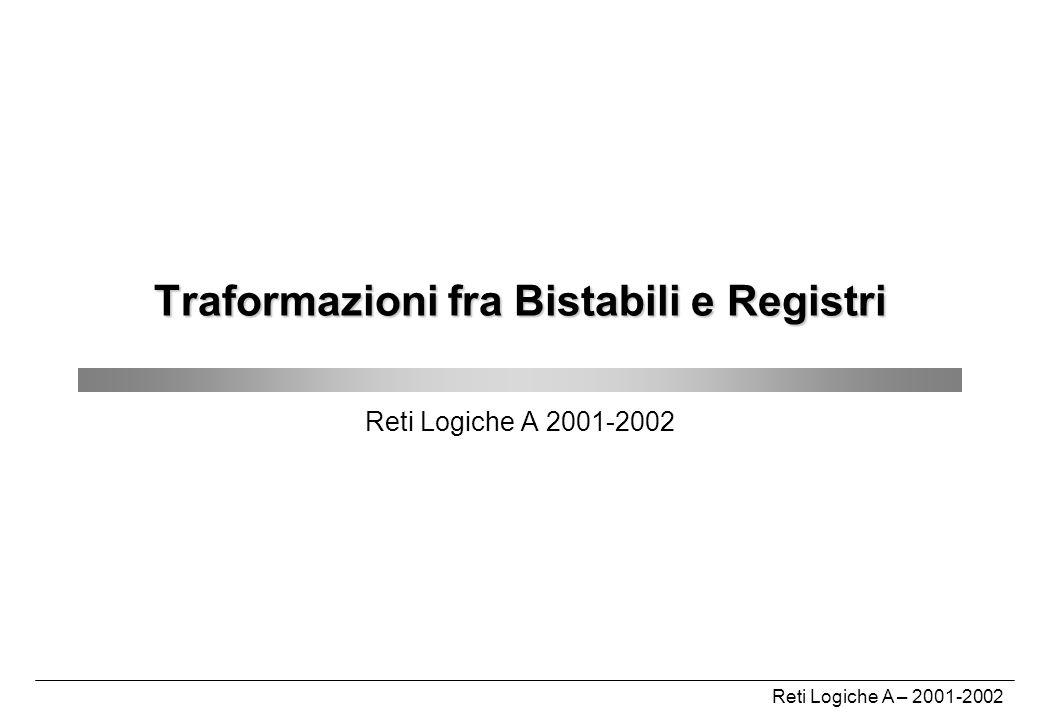 Traformazioni fra Bistabili e Registri