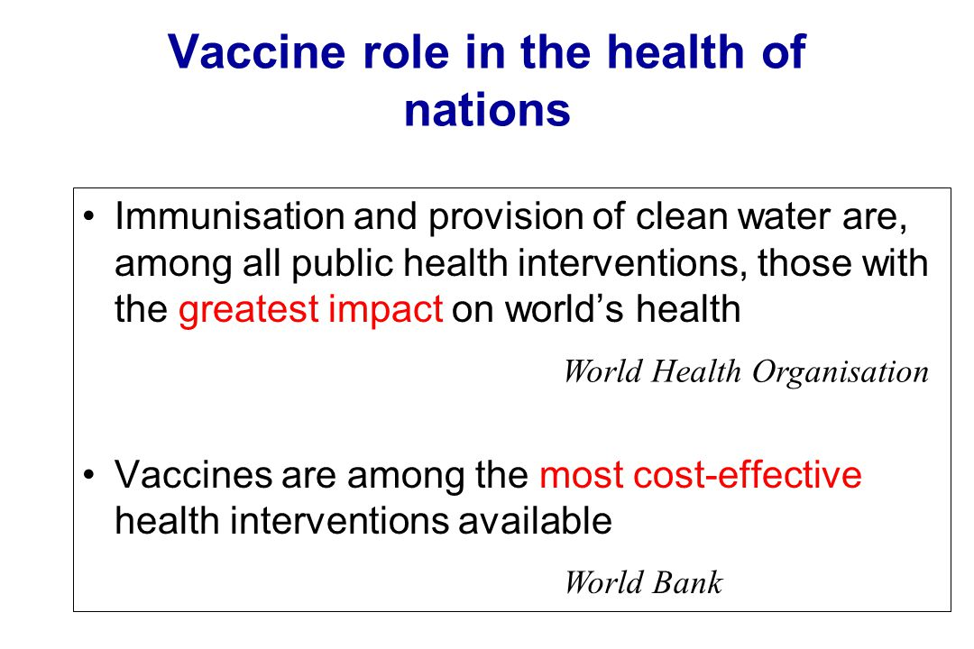 Vaccine role in the health of nations