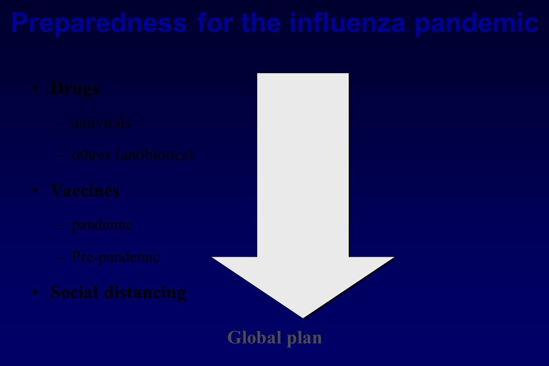 Preparedness for the influenza pandemic