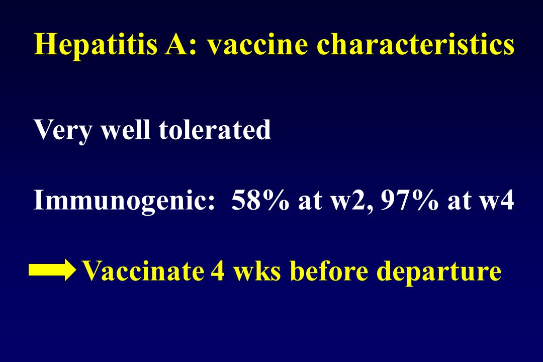 Hepatitis A: vaccine characteristics