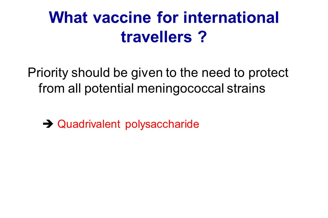 What vaccine for international travellers