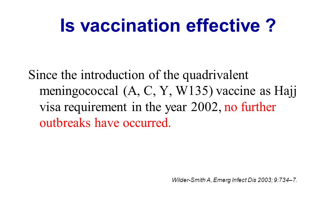 Is vaccination effective