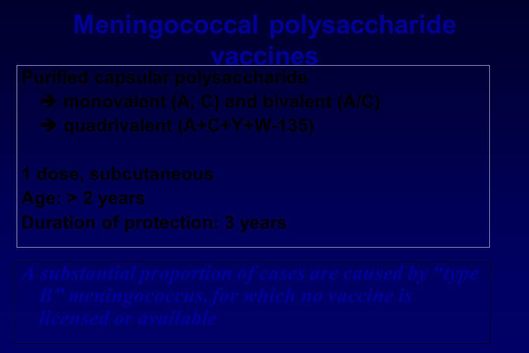 Meningococcal polysaccharide vaccines