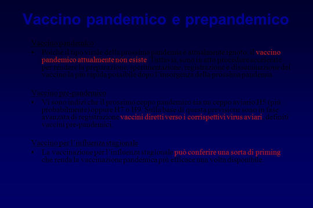 Vaccino pandemico e prepandemico