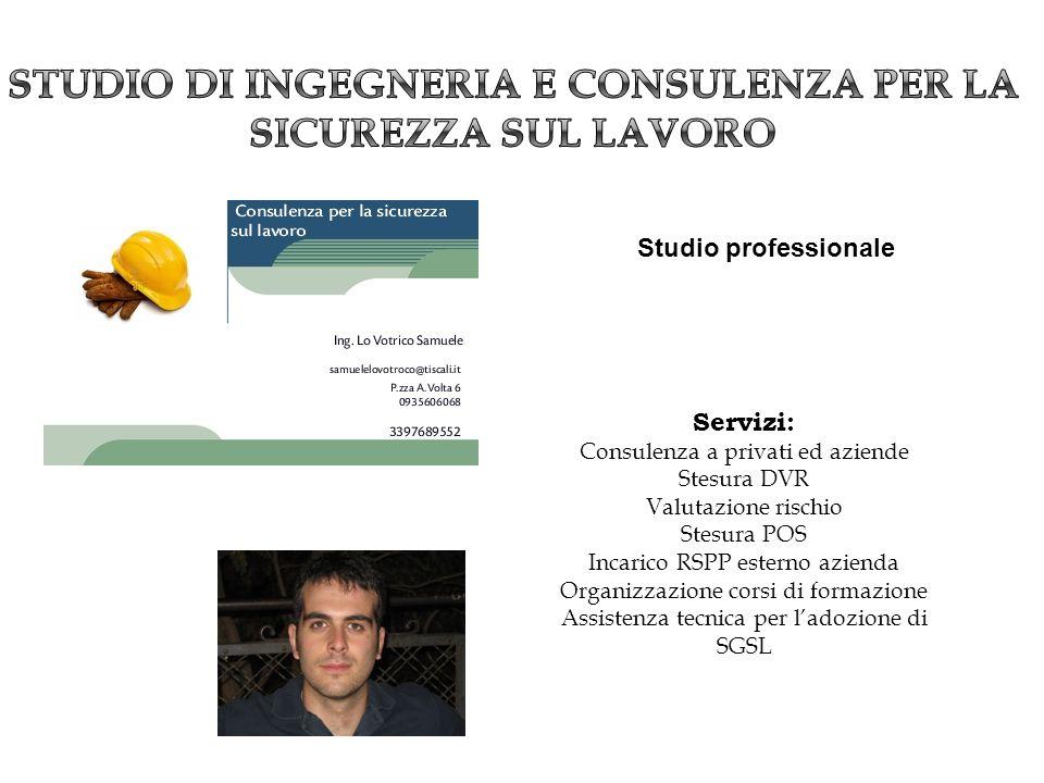 Studio di ingegneria e consulenza per la sicurezza sul lavoro