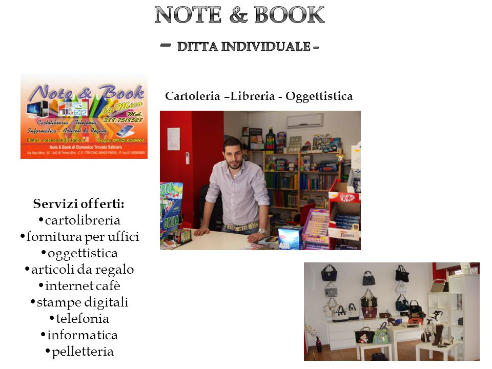 NOTE & BOOK – DITTA INDIVIDUALE –