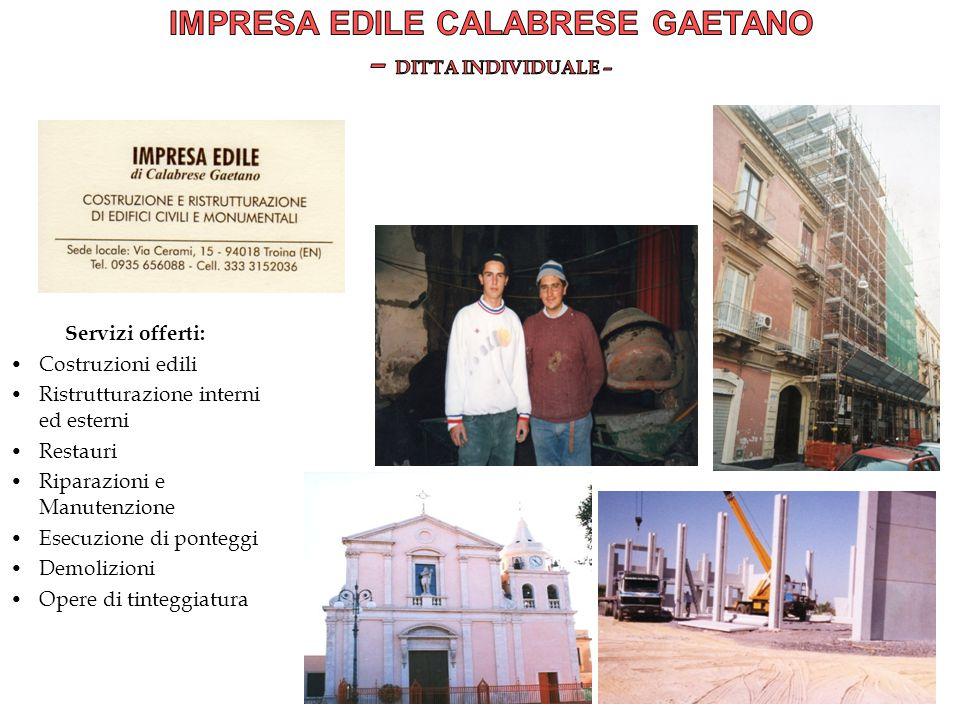 Impresa Edile Calabrese Gaetano – DITTA INDIVIDUALE –