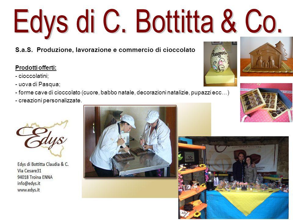 Edys di C. Bottitta & Co. S.a.S. Produzione, lavorazione e commercio di cioccolato. Prodotti offerti:
