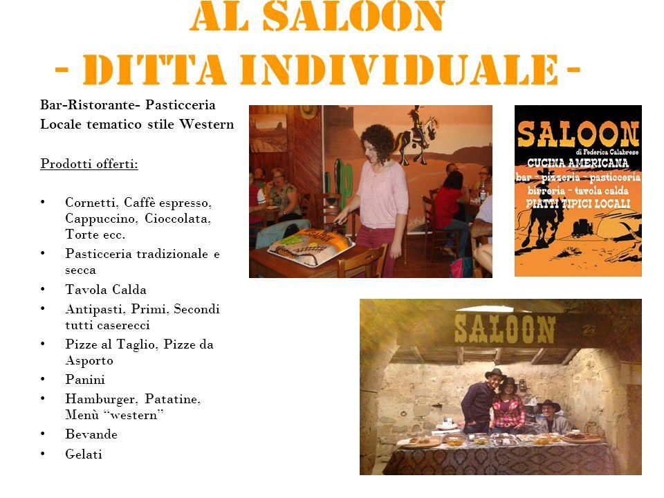 Al Saloon - Ditta individuale - Bar-Ristorante- Pasticceria