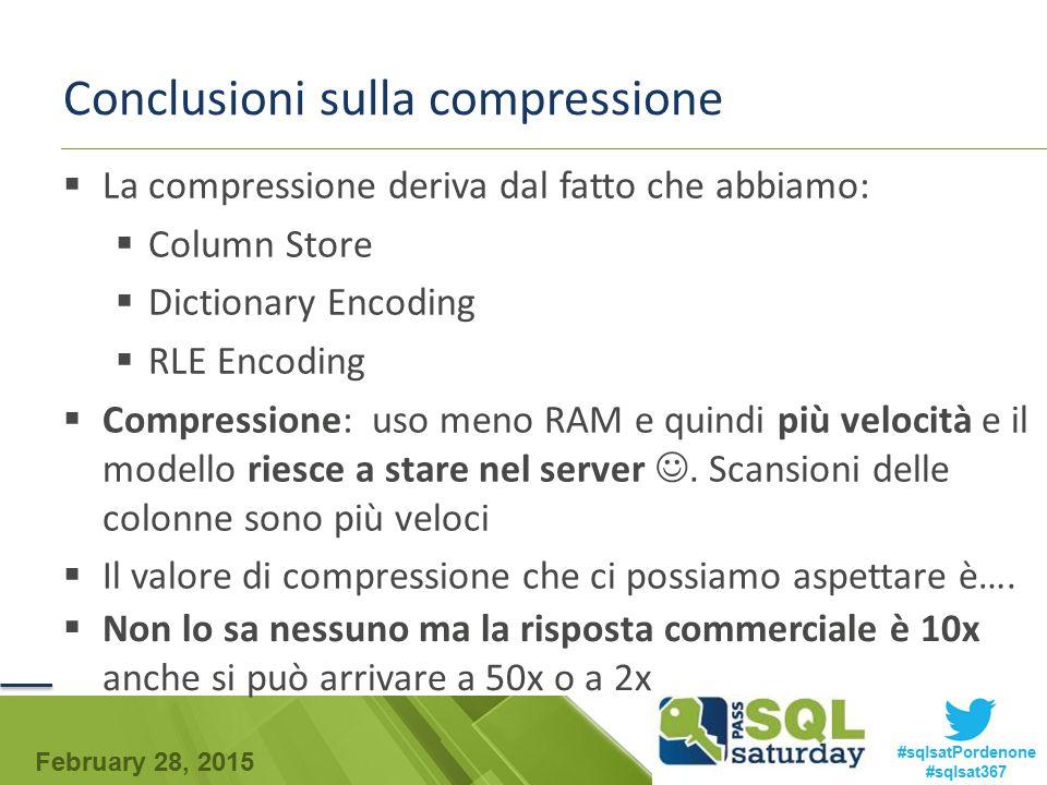 Conclusioni sulla compressione